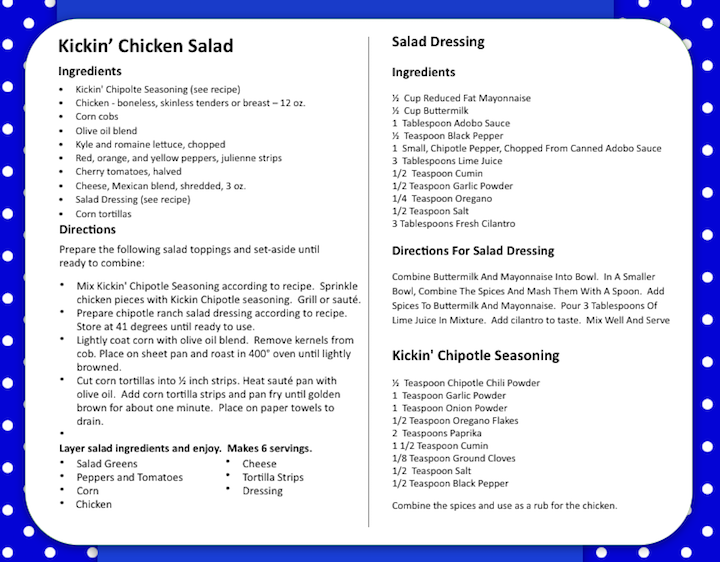 Kickin′ Chicken Chipotle Ranch Salad